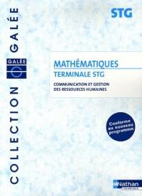 Mathématiques Tle STG Communication et Gestion des ressources humaines