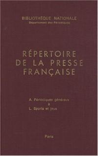 Répertoire de la presse et des publications périodiques françaises 1966-1971 : 2 volumes