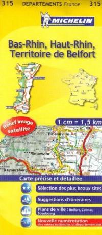 Bas-Rhin, Haut-Rhin, Territoire de Belfort : 1/150 000
