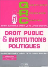 QRC de droit public et institutions politiques