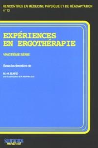 Expériences en ergothérapie : 20e série