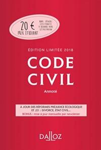 Code civil 2018 annoté. Édition limitée - 117e éd.