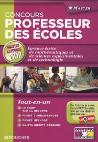 Epreuve écrite de mathématiques, sciences et technologie : Concours de recrutement de professeur des écoles