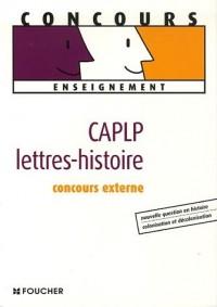 CAPLP Lettres-histoire : Concours externe