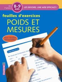 Feuilles d'exercices Poids et mesures 8-9 ans CE2