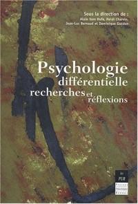 Psychologie différentielle : recherches et réflexions