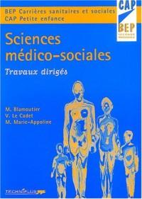Sciences médico-sociales : Travaux dirigés