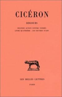 Discours, tome V : Seconde action contre Verrès - Livre quatrième : les oeuvre d'art