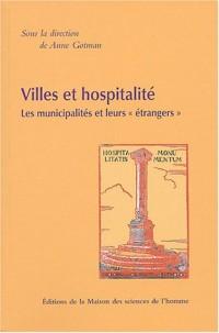 Villes et hospitalité : Les municipalités et leurs
