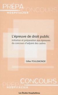 L'épreuve de droit public