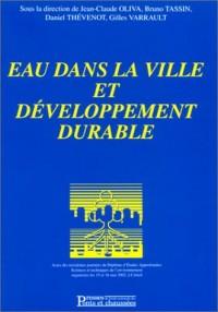 Eau dans la ville et développement durable
