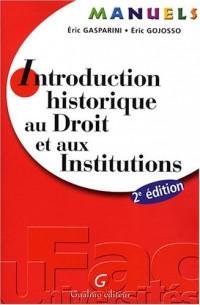 Introduction historique au Droit et aux Institutions