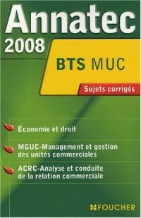 Economie et droit/MGUC/ACRC BTS MUC : Sujets corrigés