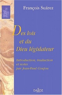 Des lois et du Dieu législateur