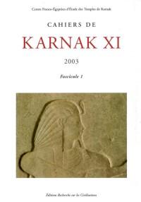 Cahiers de Karnak XI - 2003. 2 Fascicules