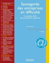 Sauvegarde des entreprises en difficulté : Le nouveau droit des procédures collectives