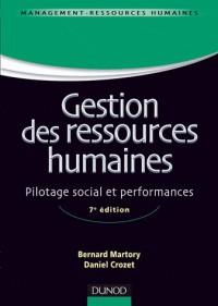 Gestion des ressources humaines - 7e édition - Pilotage social et performances