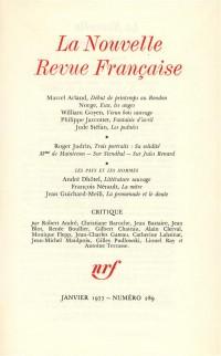 La N.R.F., numéro 289, janvier 1977