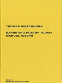 Exhibiting poetry today : Manuel Joseph