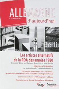 Les artistes alternatifs de la RDA des années 1980: Migration et intégration. N°219 janvier-avril 2017