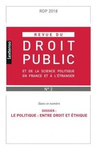 Revue du Droit Public N 2 2018