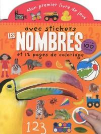 Les nombres : Mon premier livre de jeux avec stickers et 12 pages de coloriage