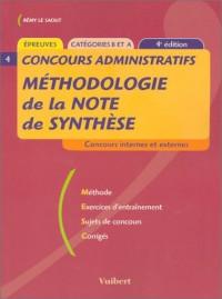 Concours administratifs, Catégories B et A : Méthodologie de la note de synthèse