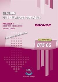 Gestion des relations sociales - Enoncé: Processus 4 du BTS CG