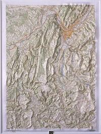 Carte en relief : Vercors 78 X 105