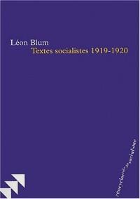 Textes socialistes 1919-1920