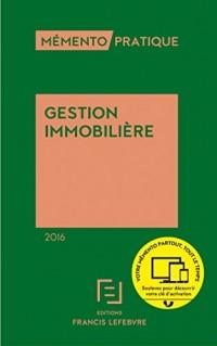 Memento gestion immobilière 2016