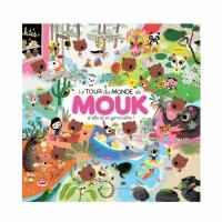 Mouk, Tome : Le tour de monde de Mouk à vélo et en gommettes !