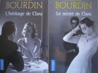 francoise bourdin - lot de 2 titres : le secret de clara - l'héritage de clara (éditions pocket)