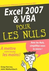 Excel 2007 et VBA pour les Nuls