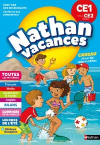 Cahier de Vacances 2018 du CE1 vers le CE2 - Nathan Vacances - 7/8 ANS