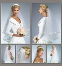 Vogue V8374 Bridal Veils and Tiara Frames Sewing Pattern Voiles De Mariee /patron. Instructions en anglais et en français (Nouveau Patron).