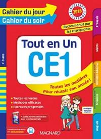 Cahier du jour/Cahier du soir Tout en Un CE1 - Nouveau programme 2016