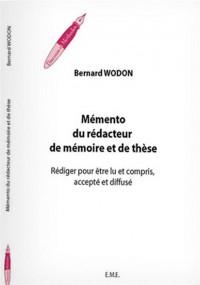 Memento du Redacteur de Mémoire et de These