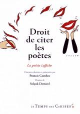 Droit de citer la poésie