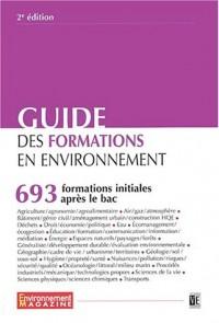 Guide des formations initiales en environnement