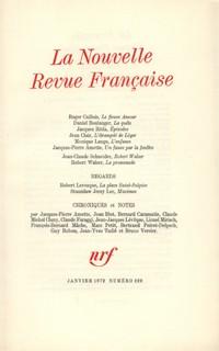 La N.R.F., numéro 229, janvier 1972
