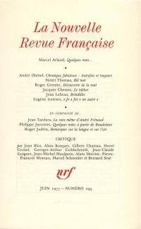 La N.R.F., numéro 294, juin 1977
