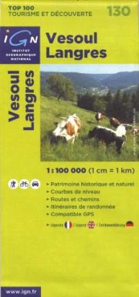 Vesoul Langres : 1/100 000