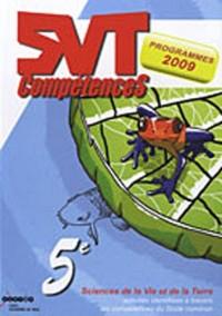 SVT 5e : Activités identifiées à travers les compétences du socle commun, programmes 2009