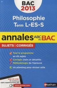 Annales Bac 2013 Philo l Es S Corriges N16