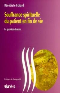 Souffrance spirituelle du patient en fin de vie : La question du sens
