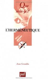 L'herméneutique