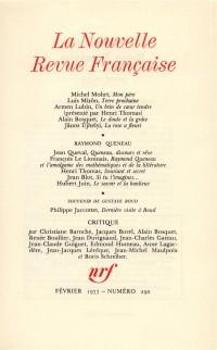 La N.R.F., numéro 290, février 1977