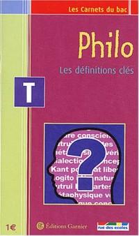 Les Carnets du bac : Philosophie, les définitions clés, terminale