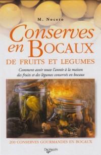 Conserves en bocaux de fruits et legumes